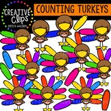 Counting Pictures: Turkeys {Creative Clips Clipart}
