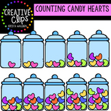 Counting Pictures: Valentine Candy Hearts {Creative Clips Clipart}