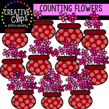 Counting Pictures: Valentine Flowers {Creative Clips Clipart}