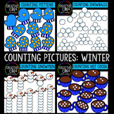 Counting Pictures: Winter Clipart {Creative Clips Clipart}