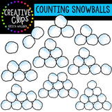 Counting Pictures: Winter Snowballs {Creative Clips Clipart}
