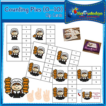 Counting Pies Clip Cards (0-10)
