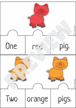Emergent Reader Counting Pigs Puzzle