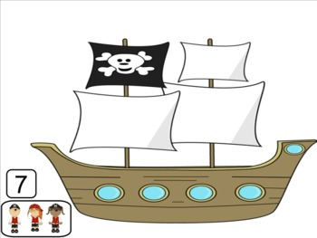 Interactive Counting notebook: Pirates on the Smart Board