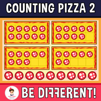 Counting Pizza Clipart 2