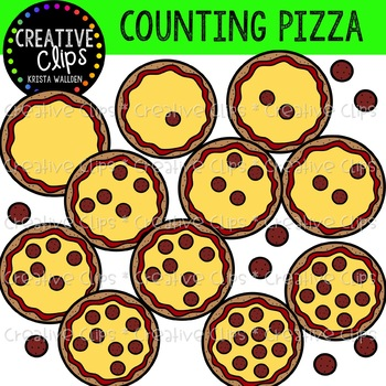 Counting Pizza Clipart {Creative Clips Clipart}