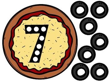 Counting Pizza Math Mats