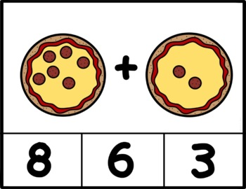 Counting Pizzas Clip Cards: Number Recognition and Addition to 20