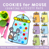 Counting Play Dough Mats - Cookies for Mouse