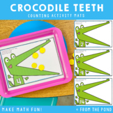 Counting Play Dough Mats - Crocodile Teeth