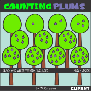 Counting Plums ClipArt
