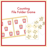 Counting Popcorn File Folder Game