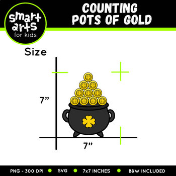 Counting Pots of Gold Clip Art