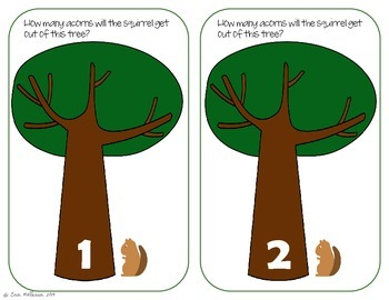 Counting Practice 1-20 - Acorns for Autumn