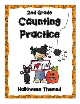 CGI Counting Warm-ups & Workshops for 2nd Grade-- Halloween Themed