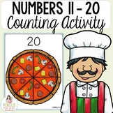 Counting Practice - Numbers 11 - 20 Mats & Number Word Activity