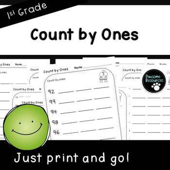 Counting Practice Pages (First Grade, 1.NBT.1)