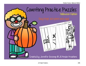 Counting Practice Puzzles Halloween