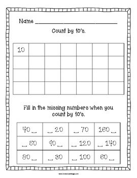 Counting Practice Sheets