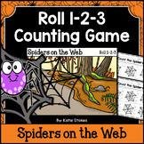 Halloween Counting Practice - Spiders on the Web