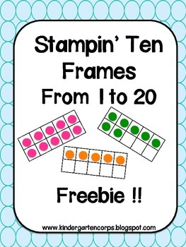 Counting Practice Stamping Ten Frames to 20