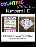 Counting Practice Strips 1-10