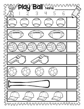 Counting Practice and Numeral Recognition for Sets 1-10