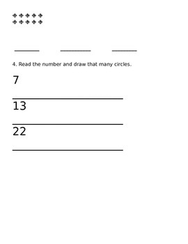 Counting Practice pages
