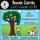 Counting Practice to 10 { Boom Cards } Distance Learning B