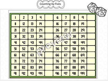 Kindergarten Counting Practice to 100