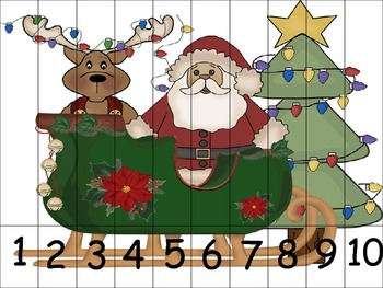 Counting Practice with Santa