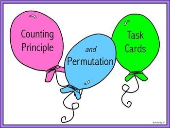 Counting Principle & Permutation Task Cards (Digital/PDF)