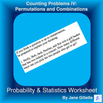 Counting Problems IV: Permutations and Combinations