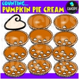 Counting Pumpkin Pie Cream Clip Art Bundle  {Educlips Clipart}