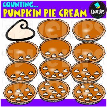 Counting Pumpkin Pie Cream Clip Art Bundle  {Educlips Clipart}