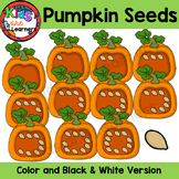 Pumpkins counting Seeds 0-10 Clipart {Kids are Learners Clips}