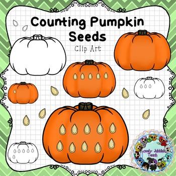 Counting Pumpkin Seeds Clip Art