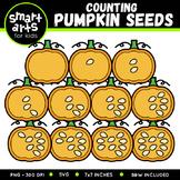 Fall Counting Pumpkin Seeds Clip Art