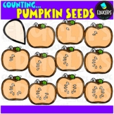 Counting Pumpkin Seeds Clip Art Bundle  {Educlips Clipart}