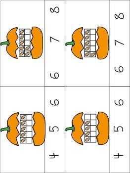 Counting Pumpkin Seeds Ten Frame Activities
