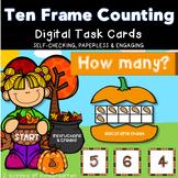 Counting Pumpkin Seeds in Ten Frame