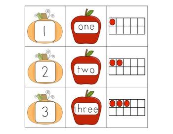 Counting Pumpkins 1-10