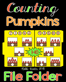 Counting Pumpkins 1-10 File Folder (SPED / Autism)