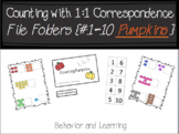 Counting Pumpkins 1-10 File Folder-for Students with Autis