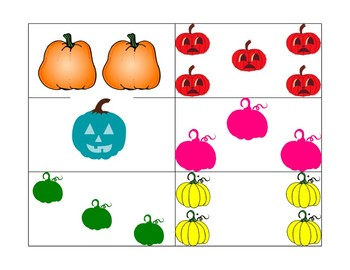 Counting Pumpkins 1-5