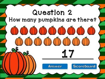Counting Pumpkins - A Powerpoint Game
