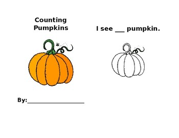 Counting Pumpkins Book 1-10 (Editable)