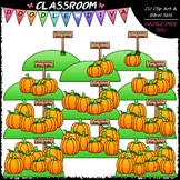 (0-10) Counting Pumpkins Clip Art - Sequence, Counting & M