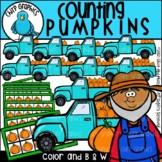 Counting Pumpkins Clip Art Set