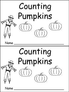 Counting Pumpkins Emergent Reader Kindergarten Or Preschool Fall Originaljpg